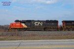Power on the combined O490 GREX & HZGX ballast train