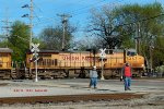Empty Herzog ballast train