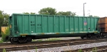 Puke green MoW ballast w/ 83089 Brandt OTM with TMDS tie/rail picker