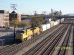 CSX train 618 heads south