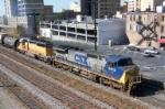 CSX train 592 heads toward CSX Boyles yard downtown.