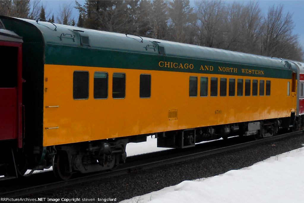 CNW Lounge Car 6700 On the 2013 American Honors Society Train