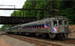 Ex Reading now SEPTA Silverliner II 9001 bringing up the rear of SEPTA 5368
