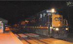 CSX GP38-2S 4418 leads C746-01 west down track two