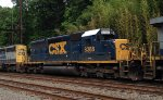 CSX SD40-2 8388 trails on K495-25