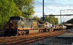 Nasty YN3 painted CSX AC60CW 658 leads Q438-30