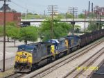 CSX train U239 heads south