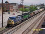 CSX 7801 leads CSX train G292