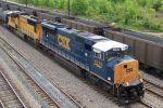 CSX 4755 leads ......NS train 393
