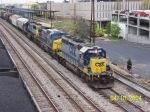 CSX train 592 head north to Boyles Yard