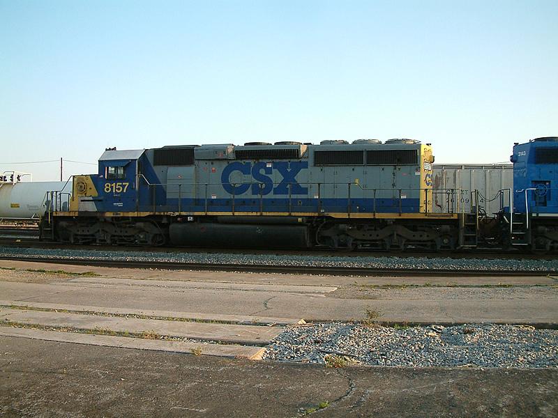 CSX 8157 sitting in the yard