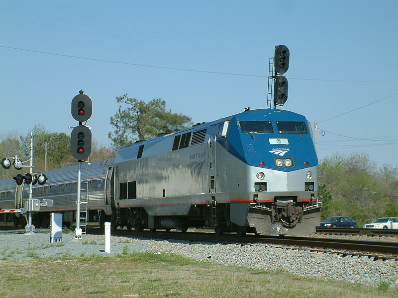Amtrak Train 79 is prepares to make its stop