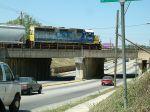 Yard job Y105 crosses an old viaduct