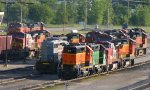BNSF Stored Engines Ready for Duty.