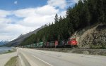 CN intermodal eastbound at Moose Lake, BC.