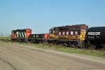 WC 3027 with CN 526 & 7518 switching at Clover Bar