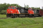 CN 2335 & 2158 Head east on the new second track at Ardrossan