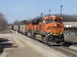 BNSF 6231 & 5978 work hard as the lead N956-09 uphill