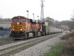 BNSF 5733 & 6174 bring E945-17 west on Track 1 just past Seymour