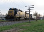CSX 2354 leads D700 west with 5 cars for the Holland area