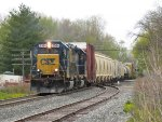 CSX 2354 & 6954 lead a lengthy train of Holland traffic east as D700 nears the end of their day