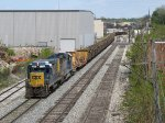 CSX 2261 & 6465 lead rail train W014-19 towards Wyoming Yard
