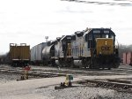 CSX 2680 & 2575 pull Y291 out on the Old Even as the tail end of W014 heads into the yard
