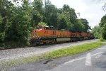 BNSF 5165 with BNSF 4147
