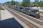 NS 5036 pulling into Industry Yard with P26