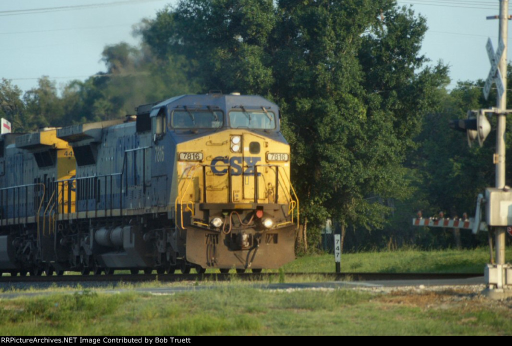 Northbound Freight - all hoppers, going through Belleview a little after 7:00 PM