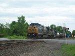 CSX 7698 Leads A West Bound Ethanol