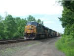 CSX 5253 With A UP Trailing Last