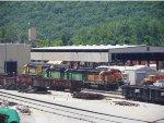 BNSF SD40-2S 1886, 1837, 1774, 1778 & 8015