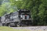 A pair of B23-7's head East through Waterloo,NY on Finger Lakes Train GS2.
