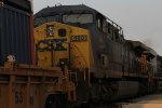 CSX 480 on a stack train.
