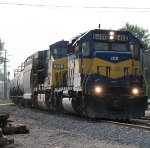 ICE 6400 heading east bound on a loaded ethanol train on csxt.