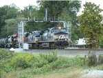 NS 154 with original Norfolk Southern heritage unit trailing.