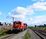 CP 6223 and CP 9504 heading west through Lachine, Qc