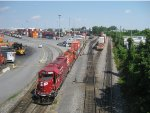 CP 4452 (GP38-2) & CP 1690 (GP9) switch the Lachine Intermodal yard