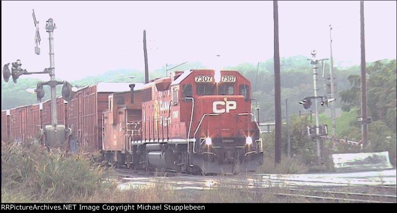 CP 7307 EX Lehigh Valley GP38-2 At Kenwood Yard