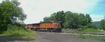 BNSF 4914 and BNSF 1067 pulling Westbound out of CP RJ with the crude oil extra