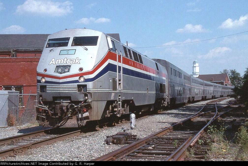 Amtrak engine 1 on Amtrak train 51