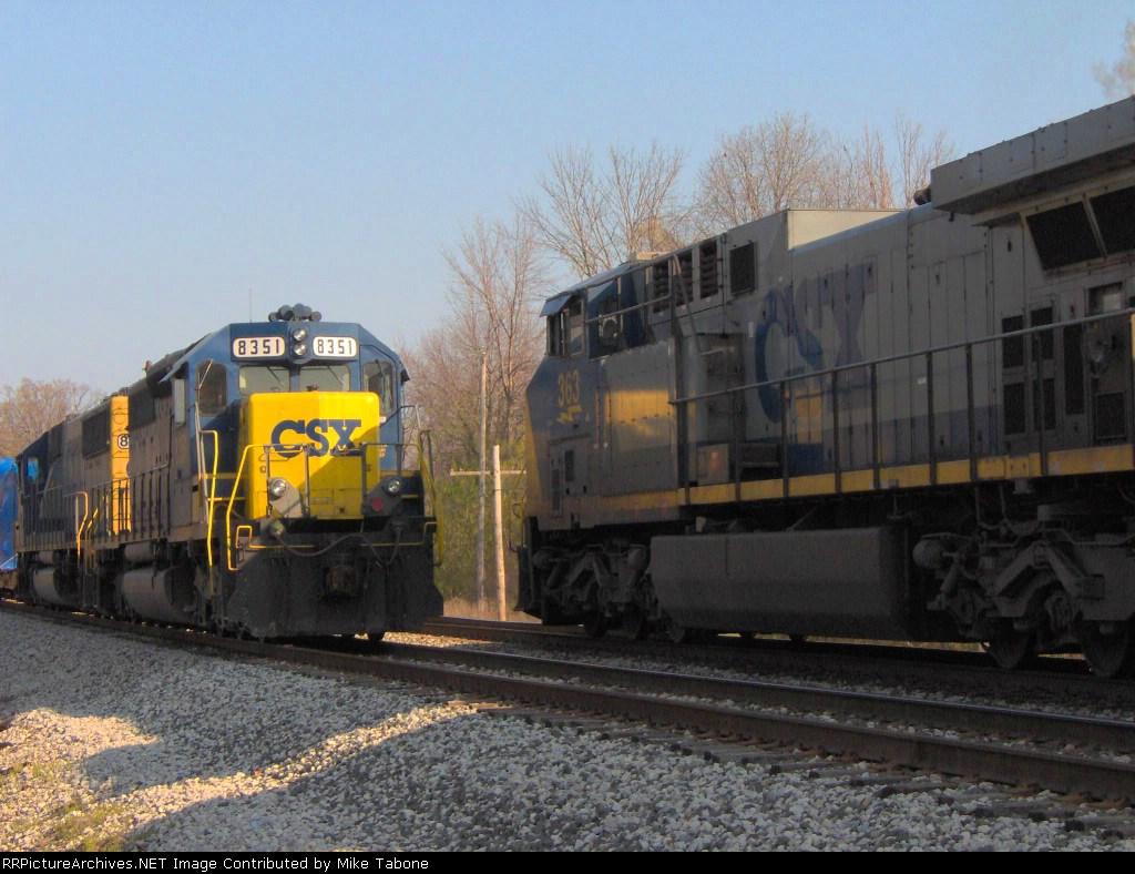 CSX 8351 and CSX 363