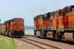 BNSF 6323 meets the nb ore train.