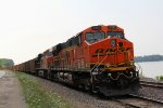 BNSF 6282 waits just south of hannibal mo.