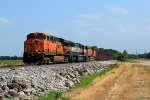 BNSF 6082 leads a NB ore train at old monroe mo.