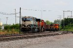 BNSF 9694 heads the NB ore train in north stl.