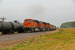 BNSF 6196 leads this empty coal train NB at elsberry mo.