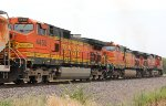 BNSF 4455 and 4877 trail on this nb.