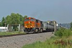 BNSF 5082 leads this sb crude oil train out of elsberry.